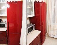 Замена цвета холодильника в ярко красный
