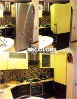 Recolors.ru Оклейка холодильника и кухонной мебели