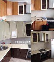 Recolors.ru  Оклейка фасада мебели кухни