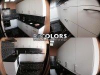 Recolors.ru  Оклейка мебели на кухне