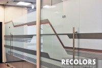 Recolors.ru оклейка перегородки офисной